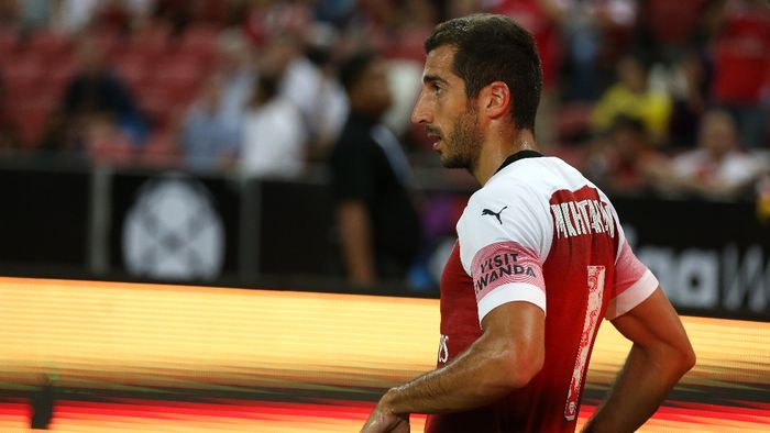Henrikh Mkhtaryan mengganti foto Twitternya setelah Arsenal gagal menjuarai Liga Europa. (Foto: Lionel Ng/Getty Images)