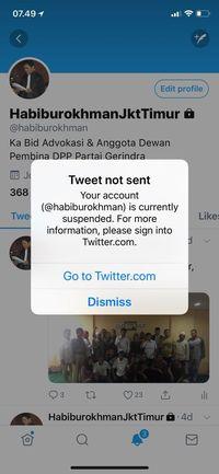 Twitter Habiburokhman Dibekukan, Menkominfo: Bukan dari Pemerintah