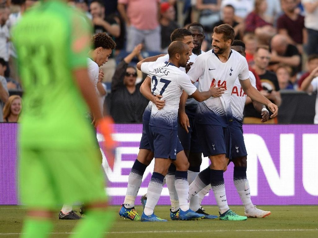 Hasil ICC 2018: Spurs Gilas Roma 4-1