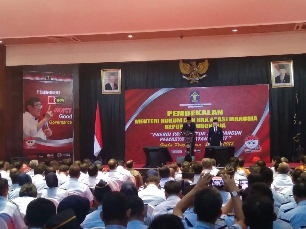 Menkum HAM Lantik Kalapas Tanjung Gusta Jadi Kalapas Sukamiskin