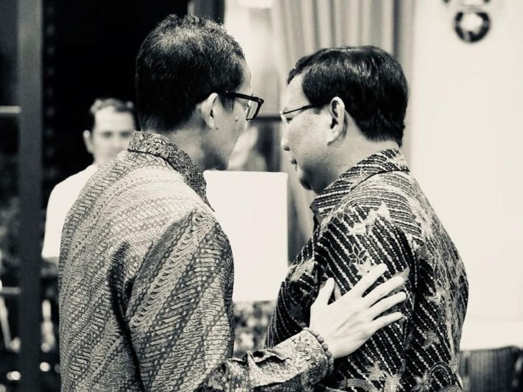 Sandiaga, Amien Rais hingga Ustaz Sambo Merapat ke Rumah Prabowo