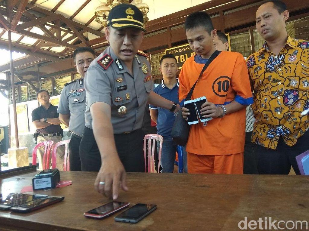 Ngaku Kehabisan Uang, Warga Surabaya Nyopet 13 HP di Salatiga