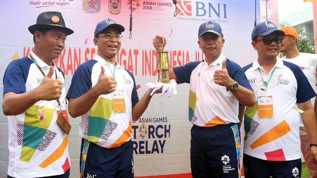 Kirab Obor Asian Games di Sorong