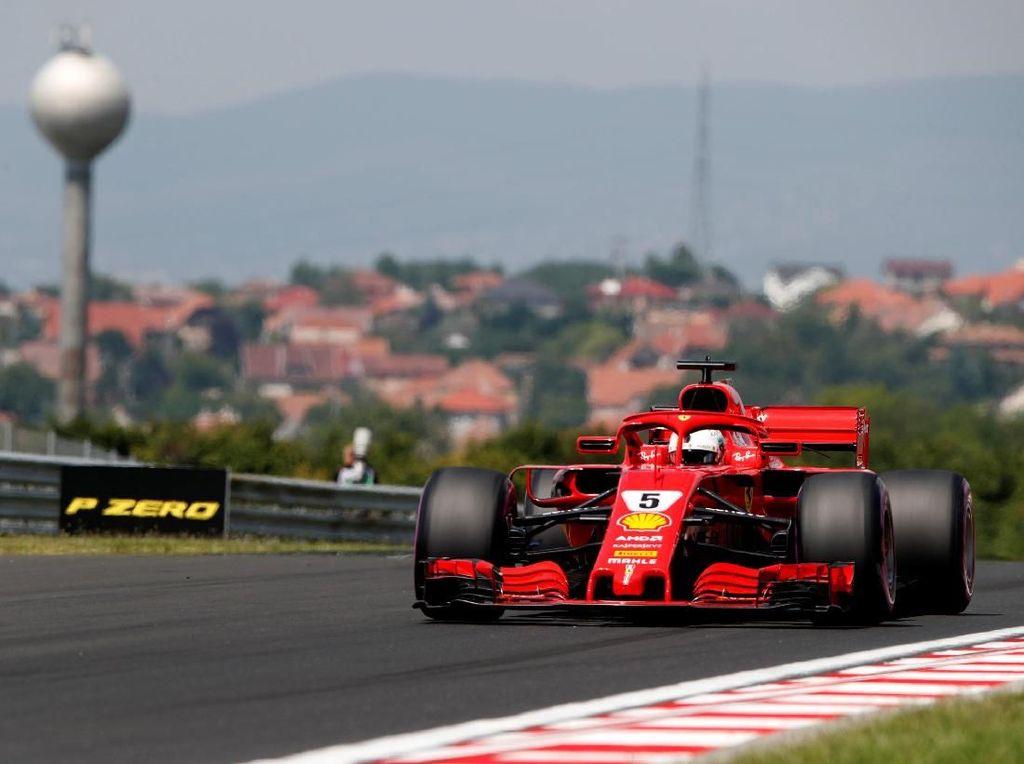 Unggul Tipis Atas Bottas, Vettel Tercepat di Sesi Ketiga