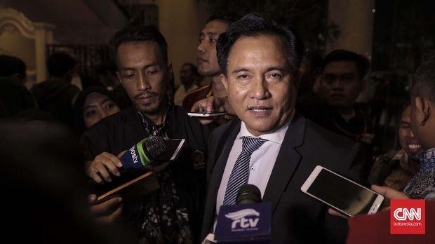 Ketua Umum PBB sekaligus Kuasa Hukum pasangan Jokowi-Ma'ruf Amin, Yusril Ihza Mahendra.