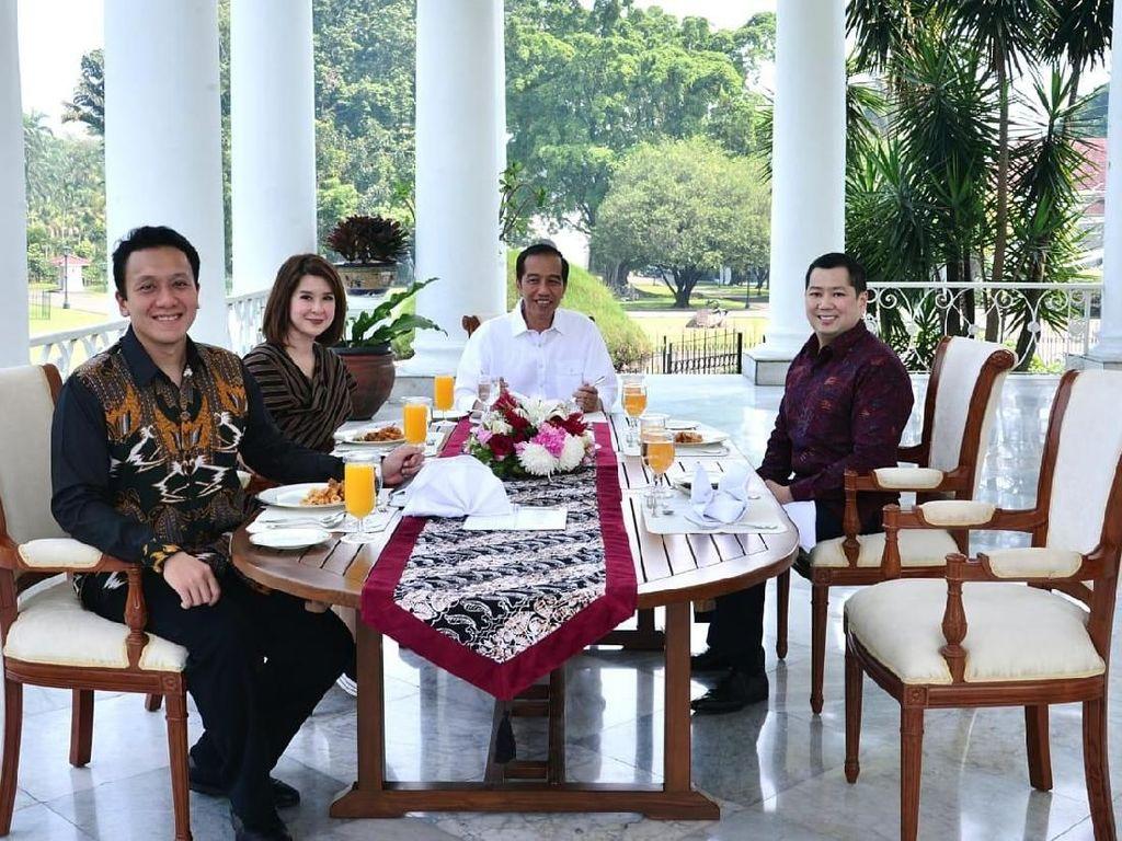 Jokowi Makan Siang Bareng Ketum PSI, PKPI, Perindo di Istana