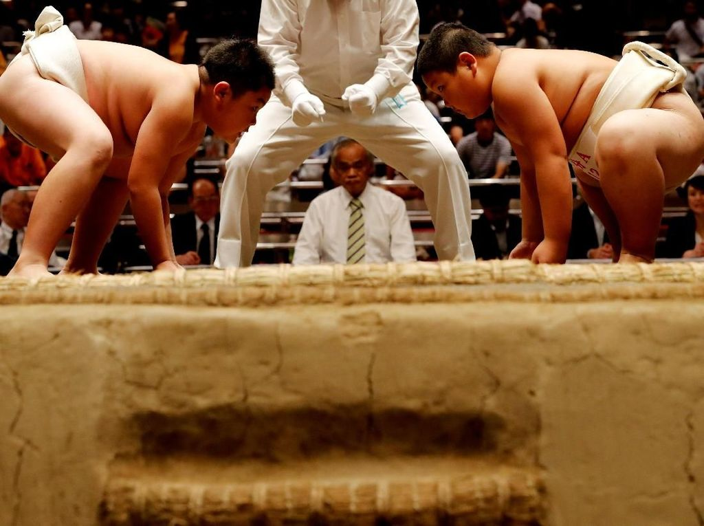 Ketika Anak-anak di Jepang ikutan Turnamen Sumo