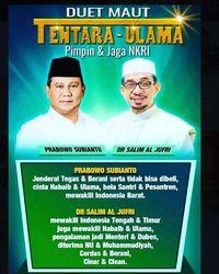 Ustaz Abdul Somad Posting Poster Duet Maut Tentara-Ulama