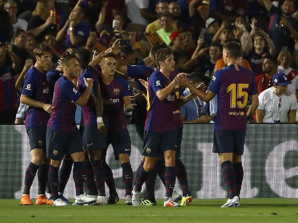 Aksi-Aksi Pemain Anyar Barcelona Tekuk Tottenham di ICC 2018