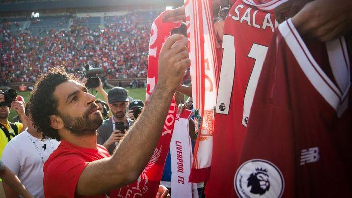 Mohamed Salah diprediksi akan betah main di Liga Spanyol  (REUTERS/Cameron Pollack/Detroit Free Press via USA TODAY Sports)