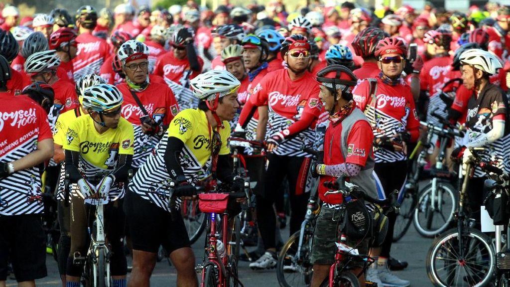 Ratusan Komunitas Sepeda Boyseli Keliling Boyolali