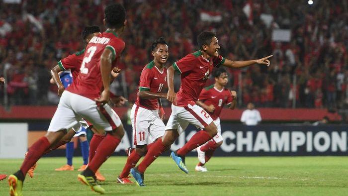 Timnas Indonesia U-16 ke final Piala AFF U-16 untuk kedua kalinya. (Foto: Zabur Karuru/Antara Foto)