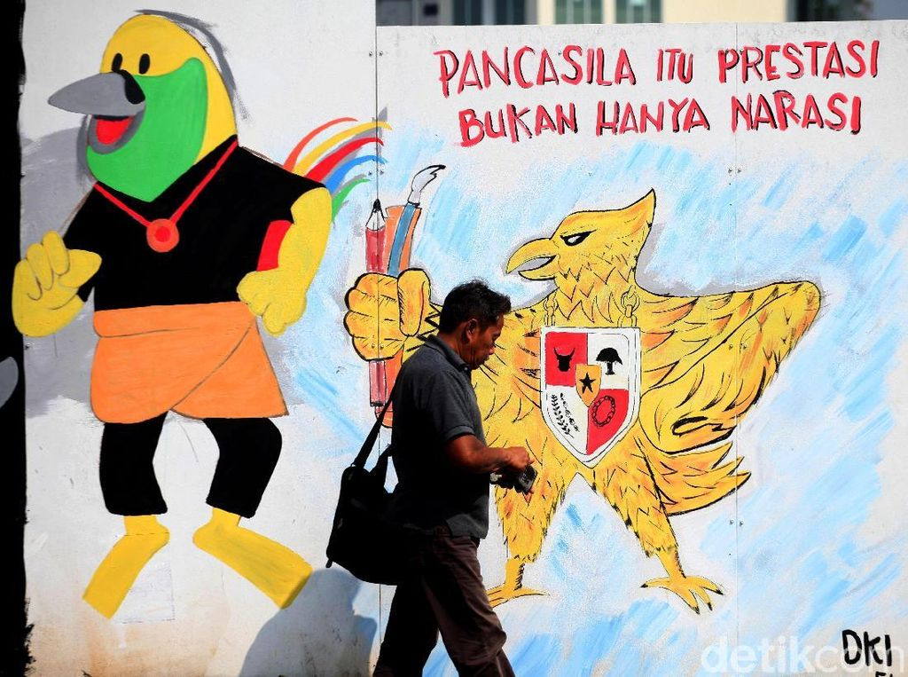 Deretan Mural-mural Lucu Khas Asian Games