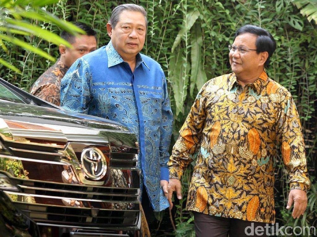 Prabowo akan Temui SBY Malam Ini Sebelum Umumkan Cawapres