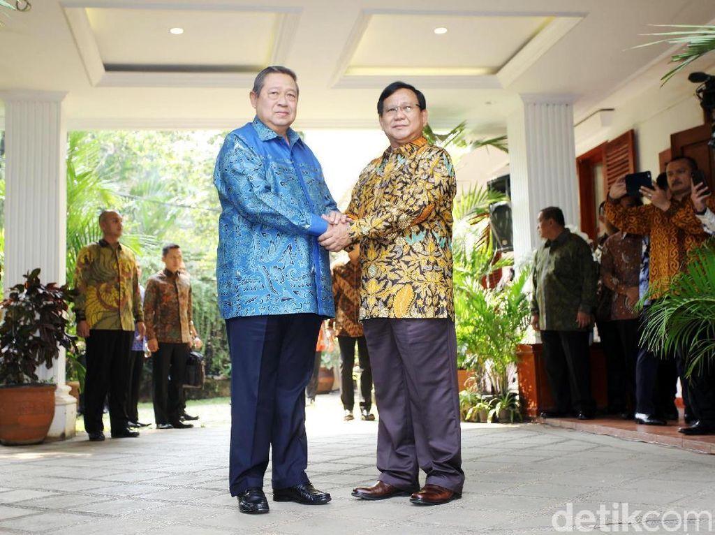 Rentetan Pertemuan Prabowo-SBY Hingga Berujung Koalisi