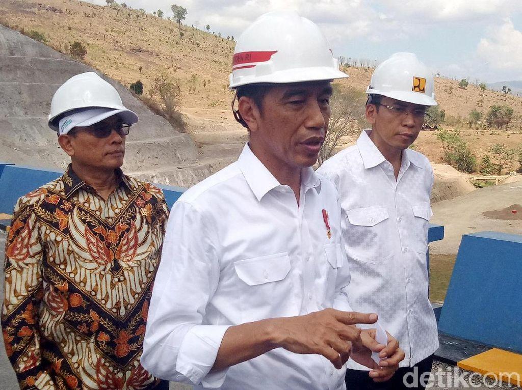 Jokowi: 5 Waduk Dibangun di NTB, Terbanyak dari Provinsi Lain