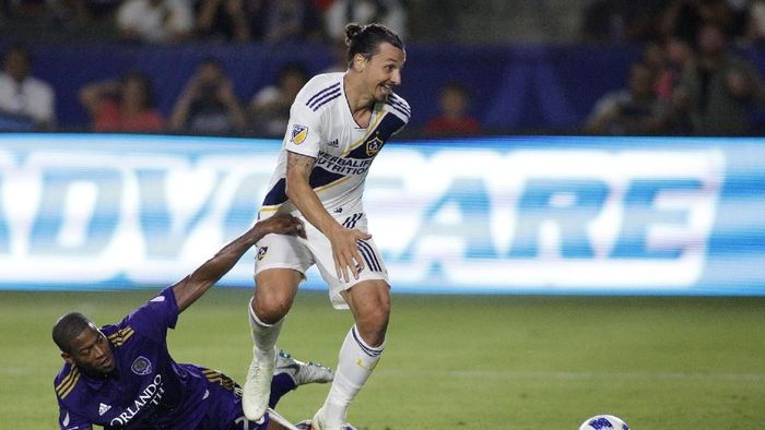 Pemain Los Angeles Galaxy, Zlatan Ibrahimovic. (Foto: Katharine Lotze/Getty Images)