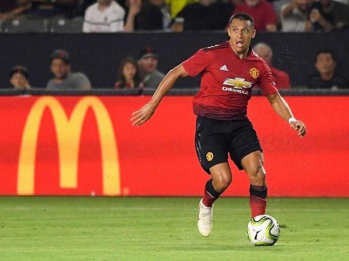 Pemain Manchester United, Alexis Sanchez. (Foto: John McCoy/Getty Images/AFP)