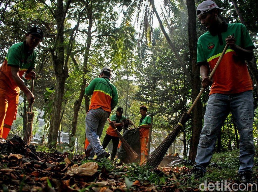 Aksi Bersih-bersih Kawasan GBK Hari Ini