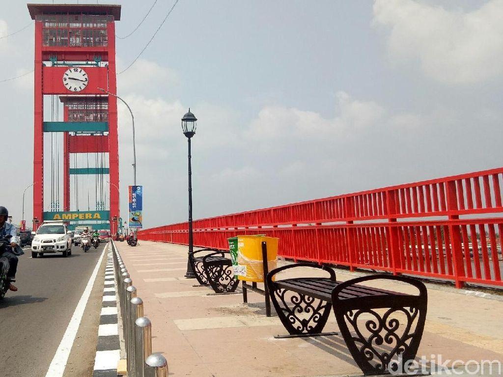 Cling! Ini Penampakan Jembatan Ampera Sambut Asian Games