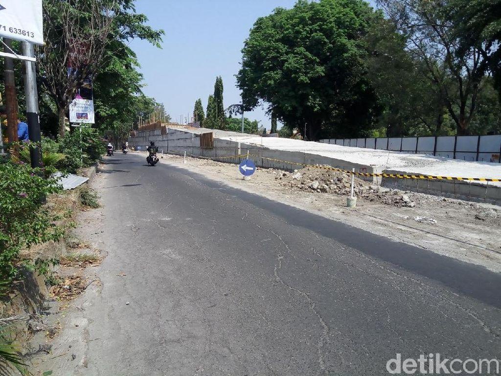 Ada Proyek Overpass, Jalan MT Haryono Solo Ditutup 2 Pekan