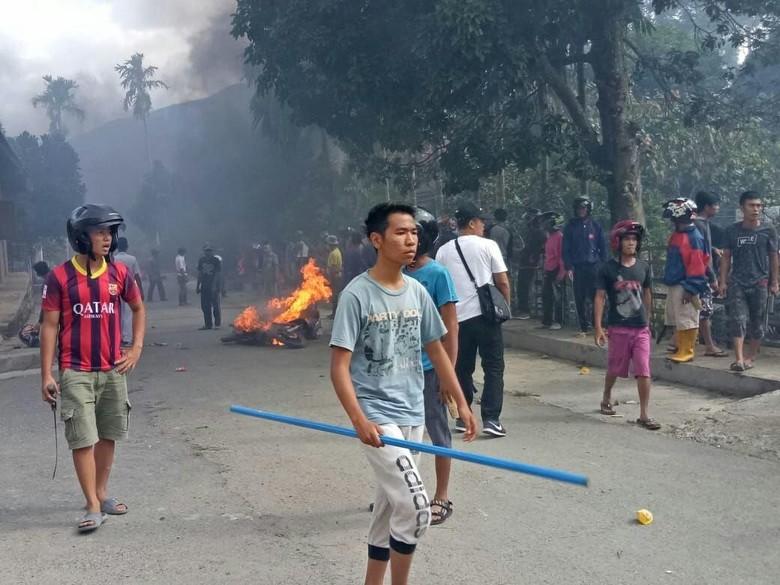 Bentrok Warga di Jambi, Polisi dan TNI Masih Jaga TKP