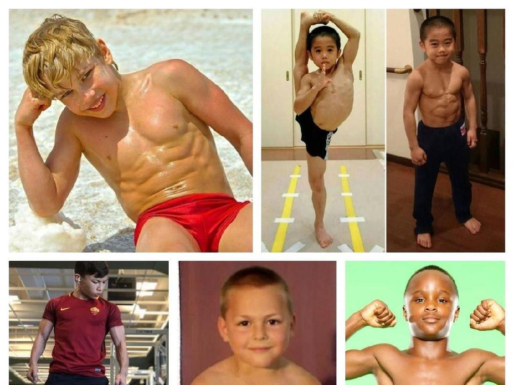 Potret Anak-anak yang Berotot Kekar, Macho Sebelum Waktunya?