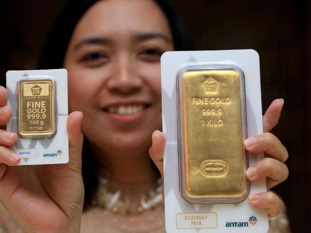 Harga Emas Antam Stagnan di Rp 655.000/Gram