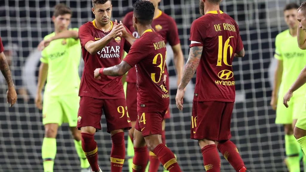 Duel Barcelona vs AS Roma Hadirkan Enam Gol