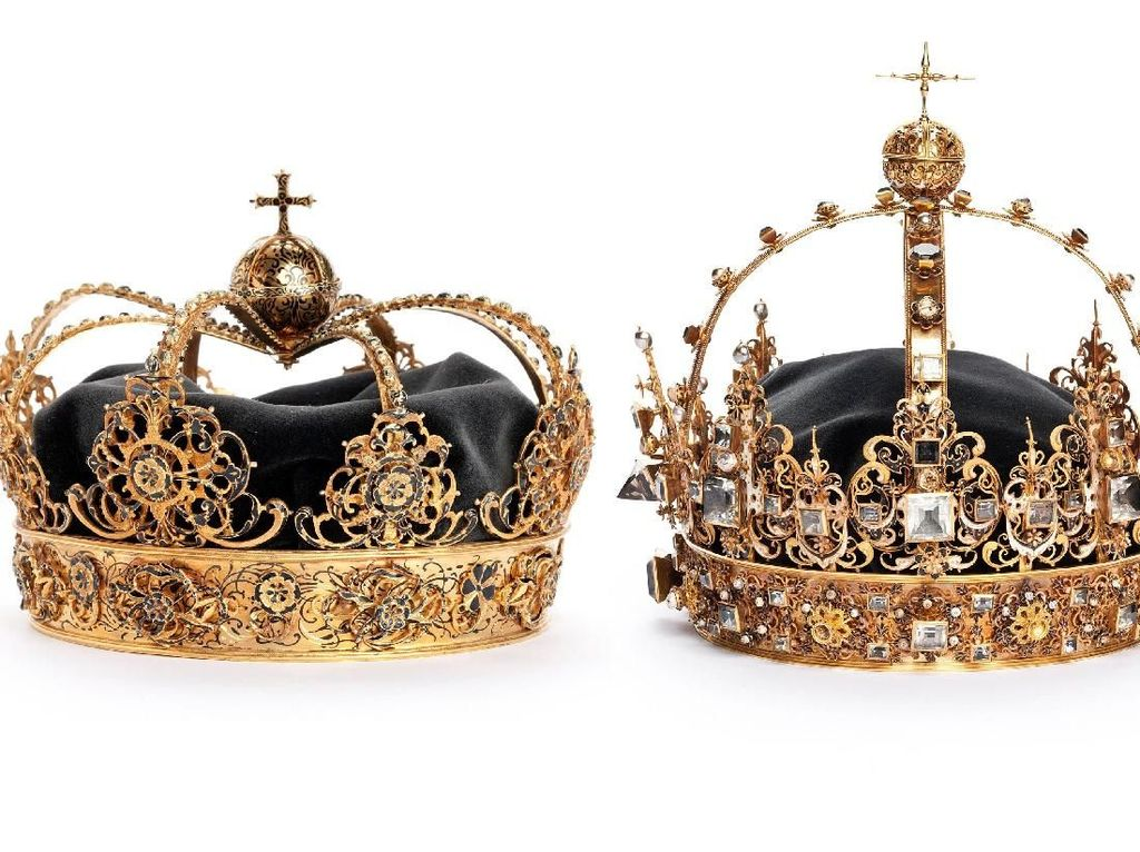 Penampakan Mahkota Emas Kerajaan Swedia yang Dicuri