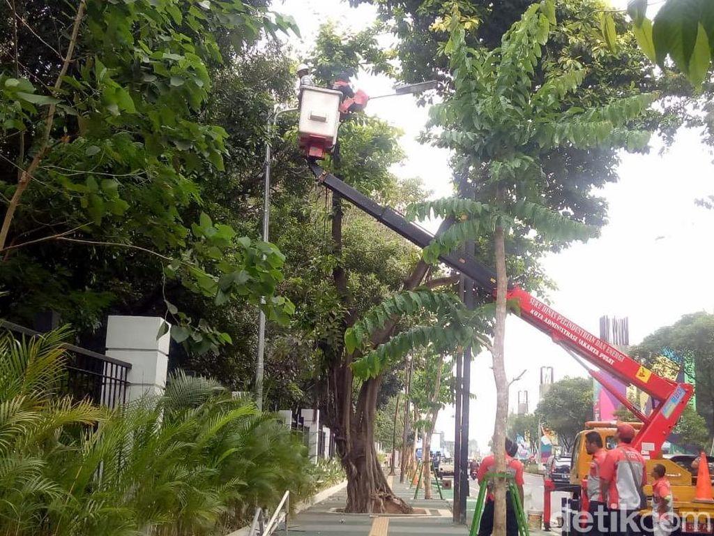 Tiang Halang Rintang Dicabut, Tiang Lampu Dipasang Dekat Taman GBK