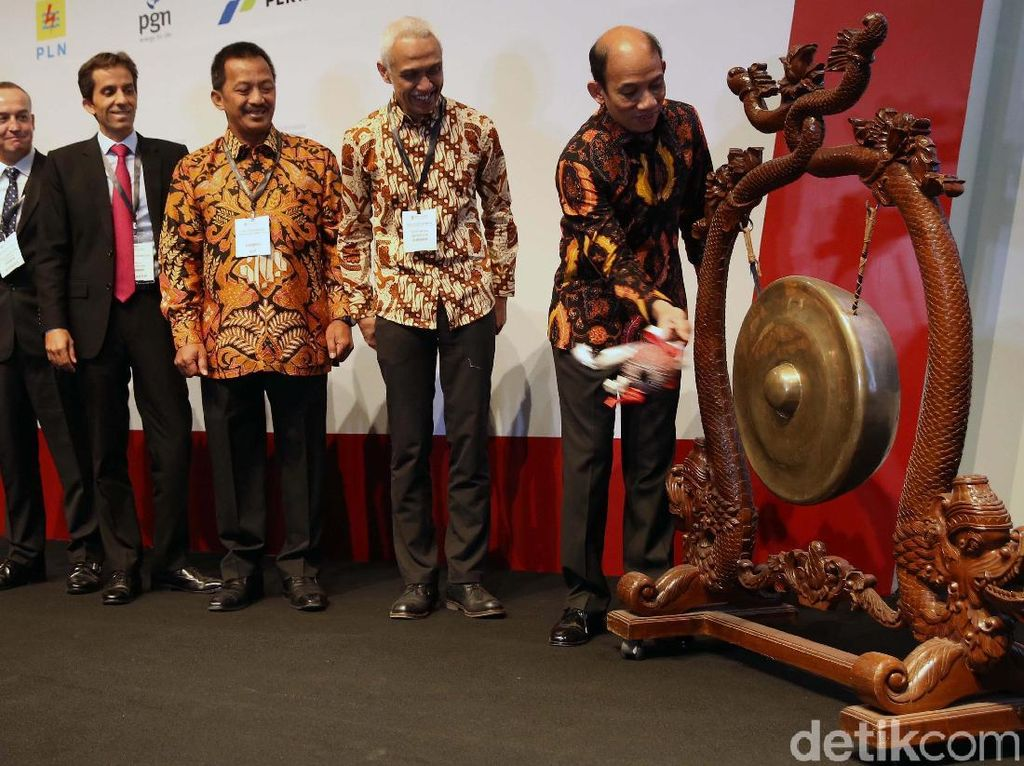 Arcandra Tahar Buka Gas Indonesia Summit & Exhibition 2018