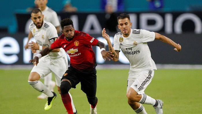 MU kalahkan Madrid 2-1 di International Champions Cup 2018. (Foto: Andrew Innerarity/REUTERS)