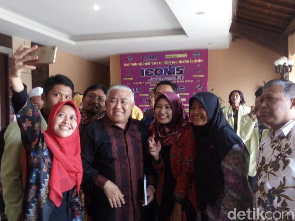 Didukung Jadi Cawapres Jokowi, Din Syamsuddin: Naif Kalau Tak Siap