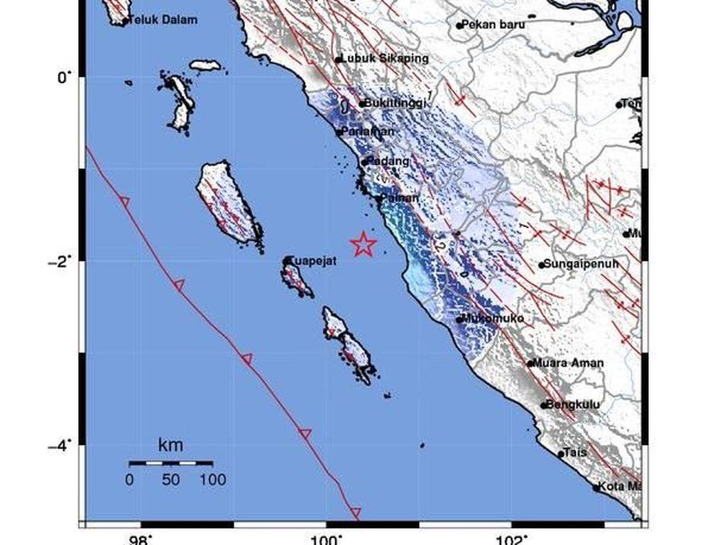 Gempa 4,8 SR Dirasakan di Padang