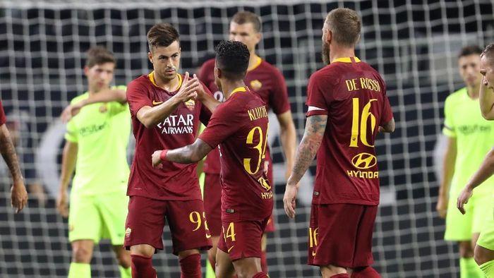 AS Roma menang 4-2 atas Barcelona di International Champions Cup 2018 (Foto: Matthew Emmons-USA TODAY Sports)