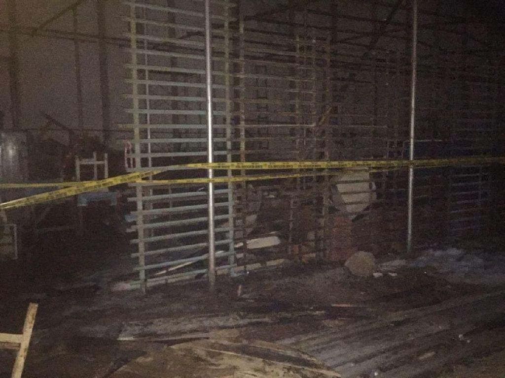 Kebakaran Gudang di Velodrome Padam, Garis Polisi Dipasang