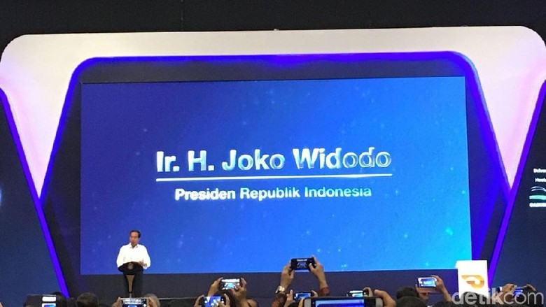 Presiden Joko Widodo membuka GIIAS 2018 Foto: Dina Rayanti