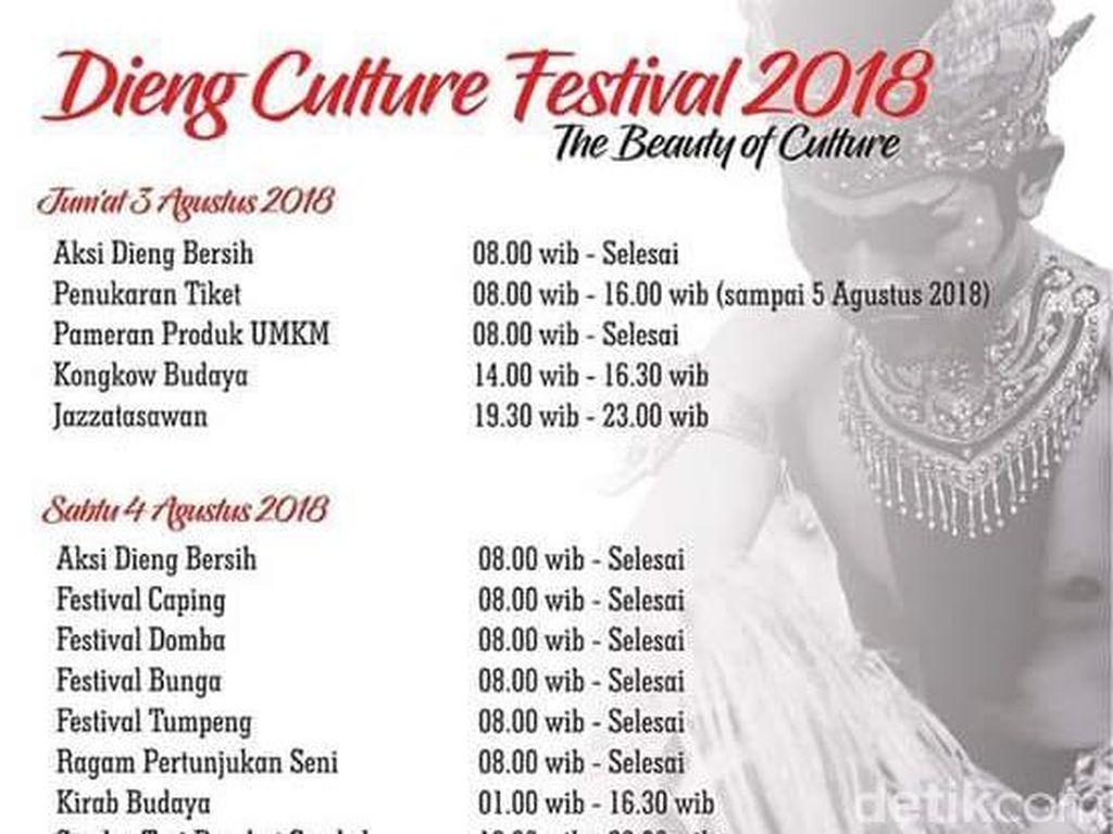 Siap-siap, Dieng Culture Festival akan Mulai Dihelat Besok
