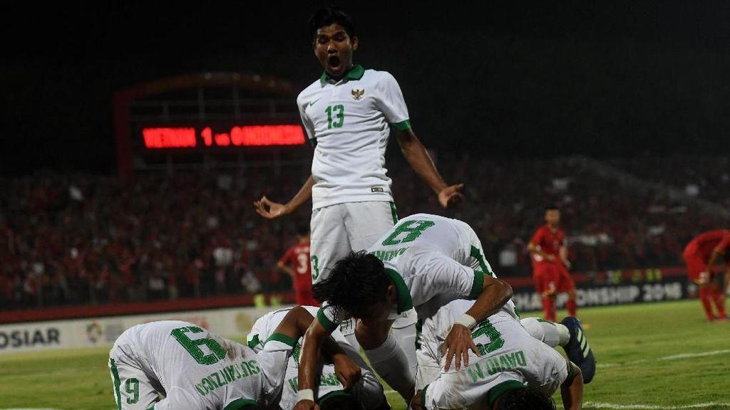 Mantap! Timnas Indonesia U-16 Cukur Vietnam
