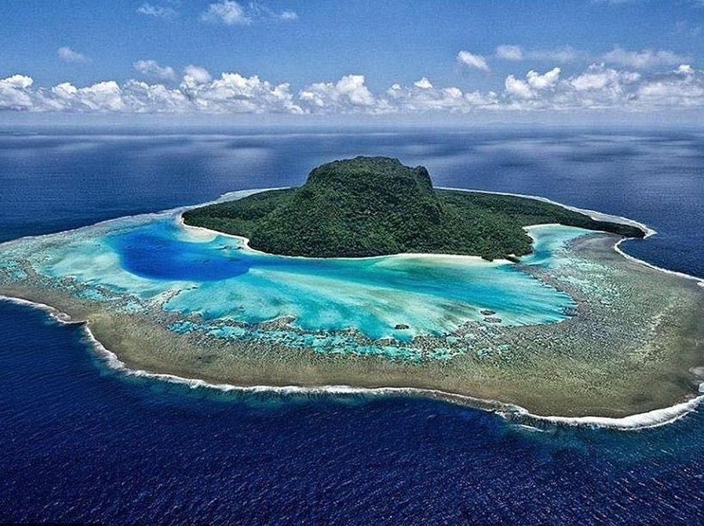 Siapa Sangka, Pulau Berbentuk Topi Ini Adalah Resort Mewah