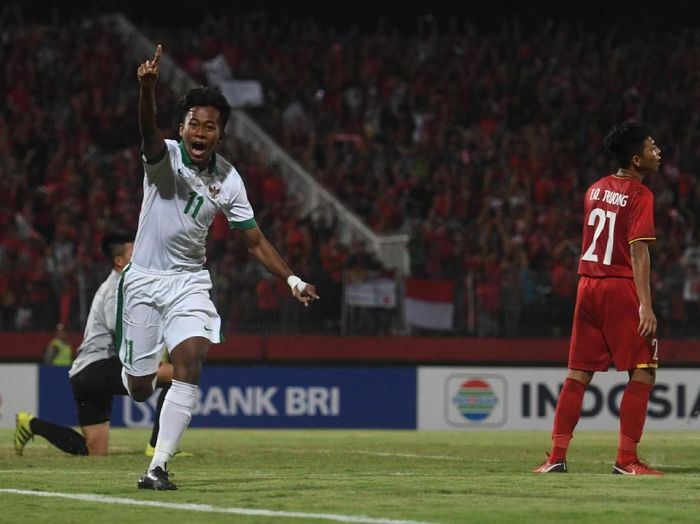 Pemain timnas Indonesia U-16, Mochammad Supriadi. (Foto: Antara Foto)