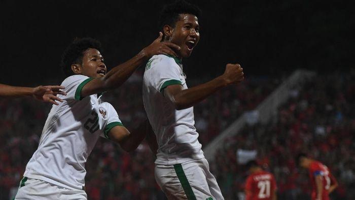 Amirudin Bagus Kahfi Al-Fikri dan Amiruddin Bagas Kaffa Al-Rizqi di timnas Indonesia U-16. (Foto: Zabur Karuru/Antara Foto)