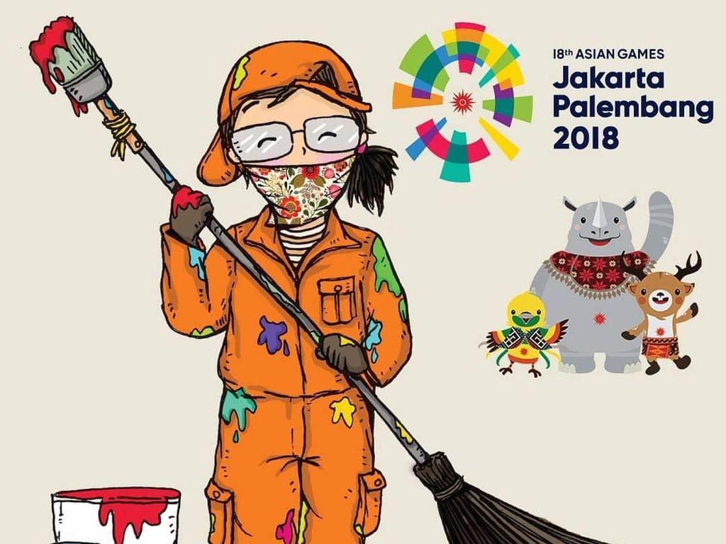 Mural Asian Games Anies Hanya Teori, Denada Bohongi Anak untuk Cari Uang