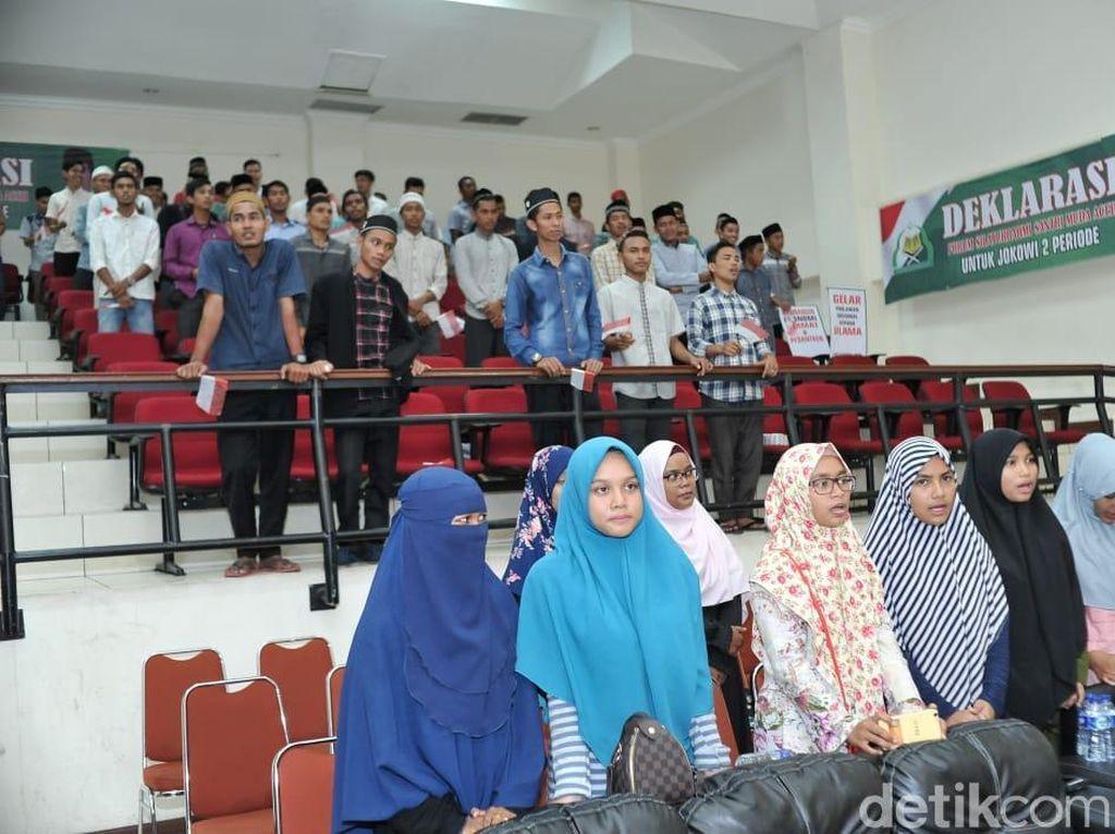 Santri di Aceh Deklarasi Dukung Jokowi 2 Periode