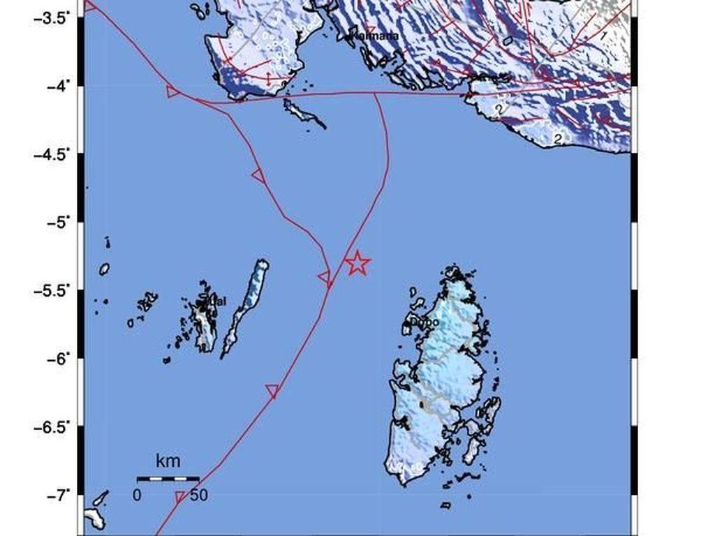 Gempa 5 SR Guncang Kepulauan Aru