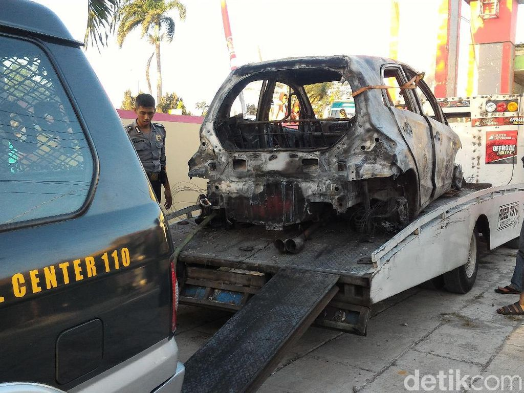 Polres Boyolali Ungkap Identitas Pemilik Mobil yang Terbakar