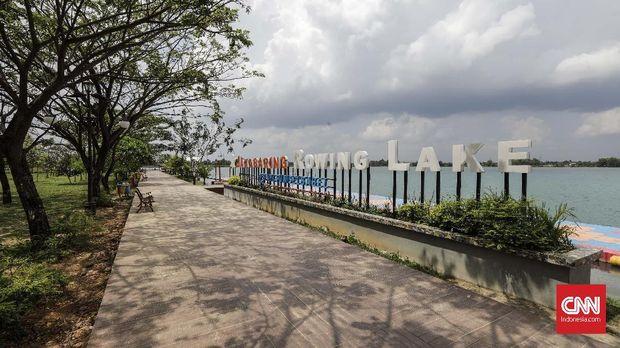 Danau di Jakabaring Sport City direncanakan menjadi venue kejuaraan olahraga-olahraga pantai.