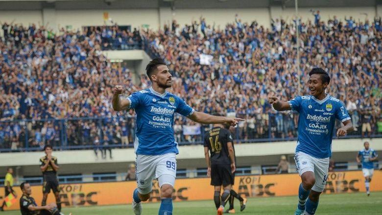 Hasil Liga 1 2018: Kalahkan Sriwijaya, Persib Kukuh di Puncak Klasemen