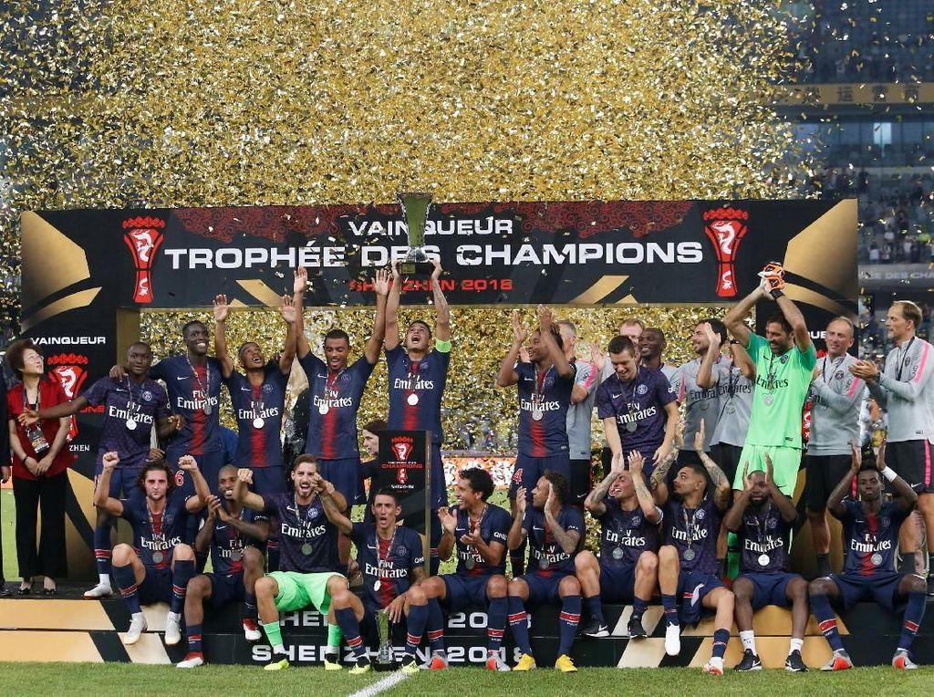 Kalahkan Monaco 4-0, PSG Juara Piala Super Prancis
